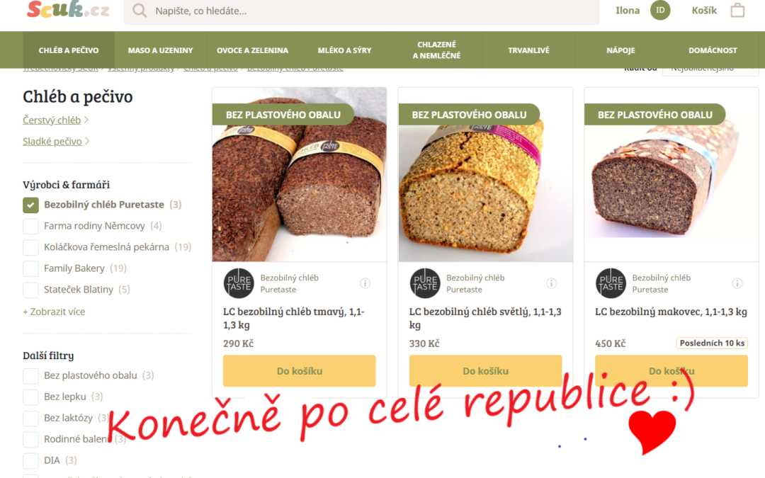 Náš chléb si můžete objednat na scuk.cz